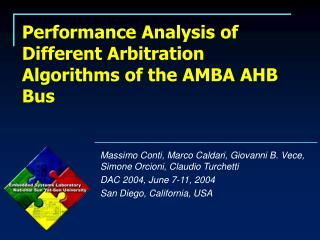 Performance Analysis of Different Arbitration Algorithms of the AMBA AHB Bus