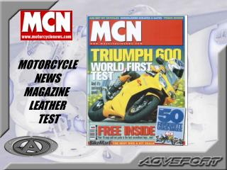 MOTORCYCLE  NEWS  MAGAZINE   LEATHER  TEST