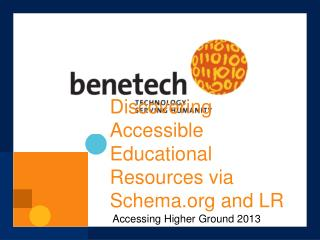Discovering Accessible Educational Resources via Schema and LR