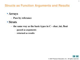 Structs as Function Arguments and Results