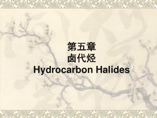 第五章 卤代烃 Hydrocarbon Halides