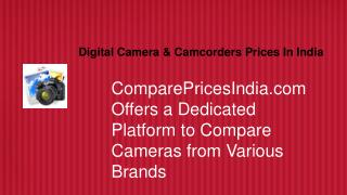 Digital Cameras Prices in India