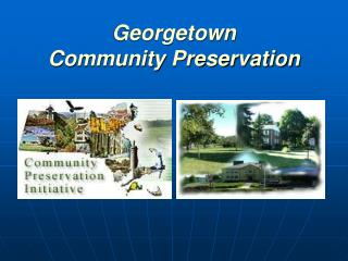 Georgetown Community Preservation