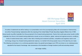 AIB Mortgage Bank  Asset Covered Securities April 2010