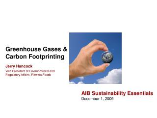 Greenhouse Gases & Carbon Footprinting