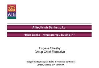 Allied Irish Banks, p.l.c.