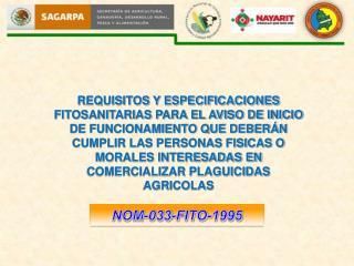 NOM-033-FITO-1995
