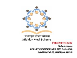 PRESENTATION BY Mahavir Meena DEPUTY COMMISSIONER, MID DAY MEAL  GOVERNMENT OF RAJASTHAN, JAIPUR