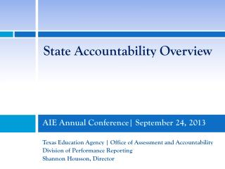 AIE Annual Conference| September 24, 2013