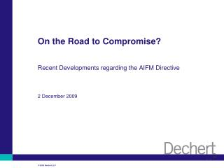 On the Road to Compromise?