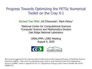 Progress Towards Optimizing the PETSc Numerical Toolkit on the Cray X-1