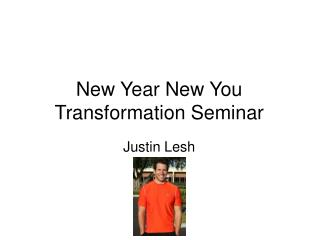 New Year New You Transformation Seminar