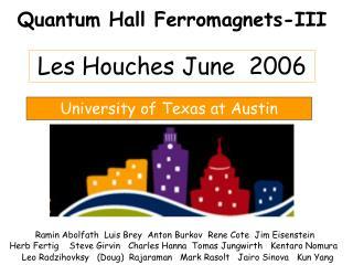 Quantum Hall Ferromagnets-III