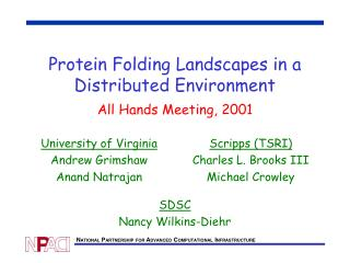 Protein Folding Landscapes in a Distributed Environment