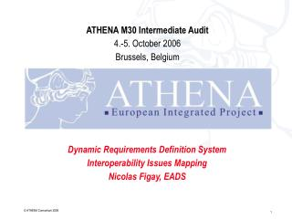 Dynamic Requirements Definition System Interoperability Issues Mapping Nicolas Figay, EADS