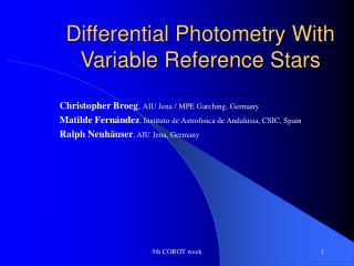 Differential Photometry With Variable Reference Stars