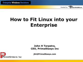 How to Fit Linux into your Enterprise