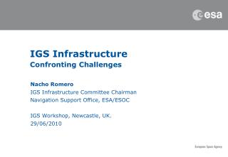 IGS Infrastructure Confronting Challenges