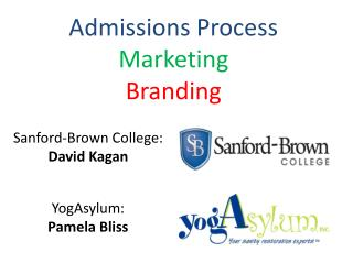 Admissions Process Marketing Branding