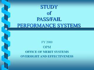 STUDY of  PASS