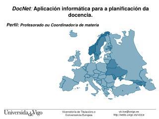 DocNet: Aplicaci n inform tica para a planificaci n da docencia.