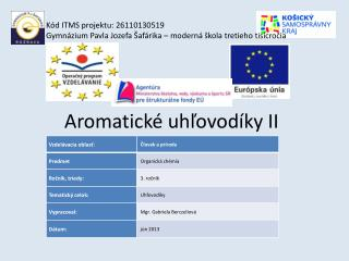 Aromatické uhľovodíky II