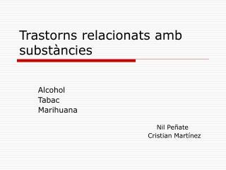 Trastorns relacionats amb substàncies
