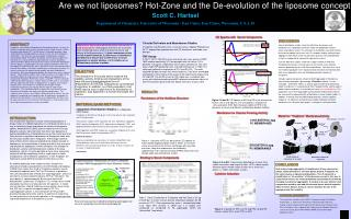 Are we not liposomes? Hot-Zone and the De-evolution of the liposome concept Scott C. Hartsel