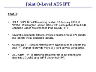 Joint O-Level ATS IPT