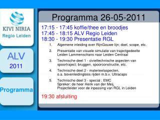 Programma 26-05-2011