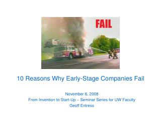 10 Reasons Why Early-Stage Companies Fail