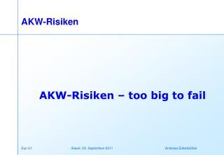 AKW-Risiken
