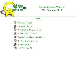 Annual General Meeting  26th February 2014