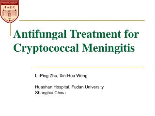 Antifungal Treatment for  Cryptococcal Meningitis