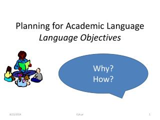 Planning for Academic Language Language Objectives