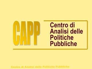 Centro di Analisi delle Politiche Pubbliche