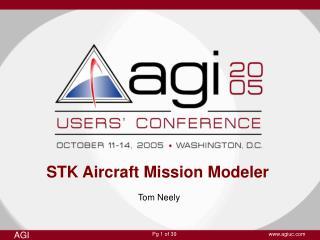 STK Aircraft Mission Modeler
