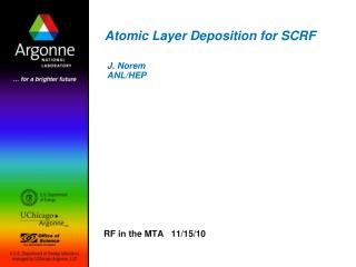 Atomic Layer Deposition for SCRF