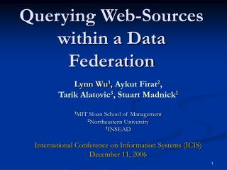 Querying Web-Sources within a Data Federation