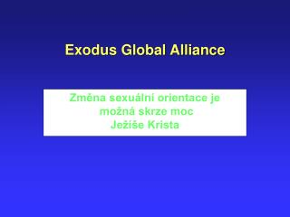 Exodus Global Alliance