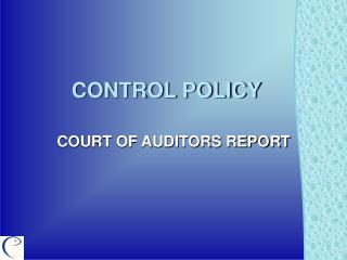 CONTROL POLICY