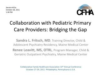 Collaboration with Pediatric Primary Care Providers: Bridging the Gap