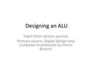 Designing an ALU