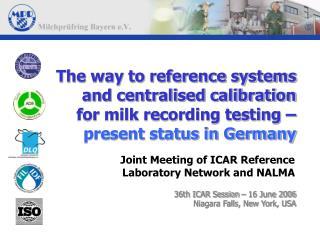 36th ICAR Session – 16 June 2006  Niagara Falls, New York, USA