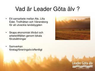 Vad är Leader Göta älv ?