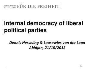 Internal democracy of liberal political parties