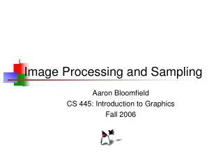 Image Processing and Sampling