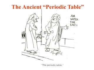 """The Ancient """"Periodic Table"""""""