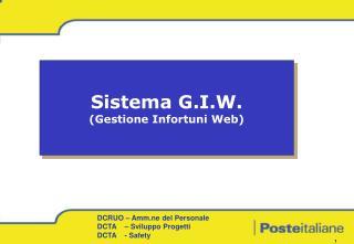 Sistema G.I.W. (Gestione Infortuni Web)