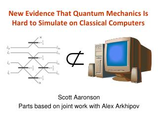 New Evidence That Quantum Mechanics Is Hard to Simulate on Classical Computers